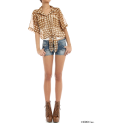 snidel(スナイデル)ギンガムチェックシフォンシャツ - Shirts - ¥8,820  ~ $78.37