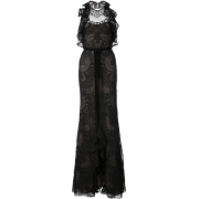 party dress with guipure lace - Dresses - $995.00
