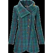 plaid coat2 - Jacket - coats -