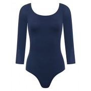 savoir faire 3/4 Sleeve Double Scoop Bodysuit - Underwear - $16.00