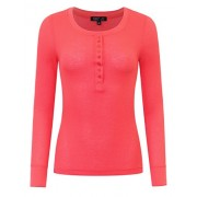 savoir faire Long Sleeve Thermo Henley Top - Shirts - $15.00