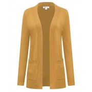savoir faire Premium Open Cardigan with Pockets - Shirts - $32.99