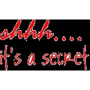 shhh its a secret - Texts -