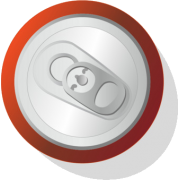 soda can aerial view - Beverage -