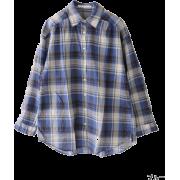 DOORS カシュクールチェックシャツ - Camisa - longa - ¥8,295  ~ 63.30€