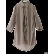 UR NET限定 スキッパーブラウス - Long sleeves shirts - ¥6,930  ~ $61.57