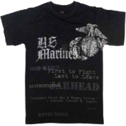 Rothco Vintage Black U.S Marines Globe and Anchor T-Shirt 66805 - Shirts - $13.49