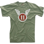 VINTAGE ''11TH AIRBORNE'' OLIVE DRAB T-SHIRT - Shirts - $7.13