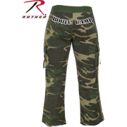 Women's ''Booty Camp'' Capri Sweatpants By Rothco In Woodland Camo In Your Choice Of Size - Pants - $18.81