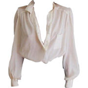 white blouse - Srajce - dolge -