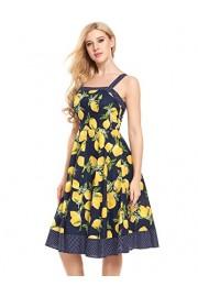 ACEVOG Women's Floral Printed Sleeveless Summer Swing Tank Dress - My look - $17.99