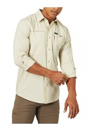 ATG by Wrangler Men's Long Sleeve Hike to Fish Shirt, Pale Khaki, X-Large - My look - $39.00