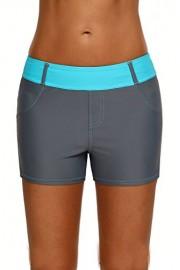 Aleumdr Womens Color Block Waistband Swim Board Shorts Plus Size S - XXXL - Myファッションスナップ - $9.99  ~ ¥982