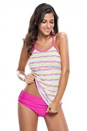 Aleumdr Womens Polka Dot Racerback Tankini Swimsuits with Triangle Briefs - Myファッションスナップ - $24.98  ~ ¥2,455
