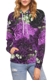 All Over Print Hoodie For Women - Catwalk - $38.99