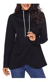 AlvaQ Women Long Sleeve Asymmetric Hem Pullover Hoodie Sweatshirt(5 Colors S-XXL) - O meu olhar - $24.99  ~ 21.46€