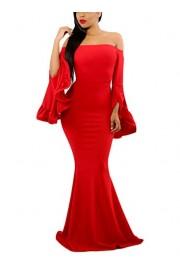 AlvaQ Women Off Shoulder Party Maxi Gown Red Small - O meu olhar - $30.99  ~ 26.62€