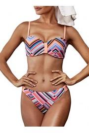 AlvaQ Women Print Push Up Bikini Sets Two Piece Underwire Bathing Suits Swimsuit - O meu olhar - $15.99  ~ 13.73€