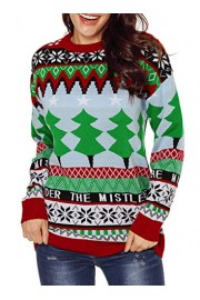 AlvaQ Women Ugly Christmas Sweater Pullover Knit Tops - O meu olhar - $29.99  ~ 25.76€