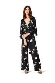 Amazon Brand - Truth & Fable Women's Deep Neck Kimono Sleeve Floral Jumpsuit - Il mio sguardo - $40.67  ~ 34.93€