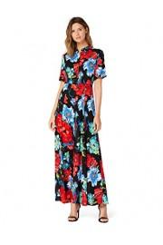 Amazon Brand - Truth & Fable Women's Maxi Floral A-Line Dress - Il mio sguardo - $70.00  ~ 60.12€