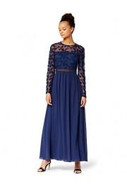 Amazon Brand - Truth & Fable Women's Maxi Lace Embroidery A-line Dress - Il mio sguardo - $74.59  ~ 64.06€