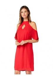 Amazon Brand - Truth & Fable Women's Mini Chiffon A-Line Dress With Cold Shoulder - Il mio sguardo - $25.32  ~ 21.75€