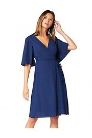Amazon Brand - Truth & Fable Women's Mini Chiffon Wrap Dress With Bell Sleeves - Il mio sguardo - $49.68  ~ 42.67€