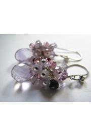 Amethyst Spinel Topaz Cluster Earrings - Minhas fotos - $49.00  ~ 42.09€