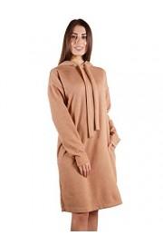 Anna-Kaci Womens Casual Long Sleeve Hoodie Tunic Pullover Pockets Sweater Dress - My look - $39.99
