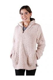 Anna-Kaci Womens Long Sleeve Zipper Pockets Pullover Soft Sherpa Outwear Sweater - My look - $39.99
