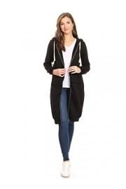 Anna-Kaci Women's Oversized Long Zip Up Hoodie Sweater Sweatshirt Dress Jacket - My look - $59.99