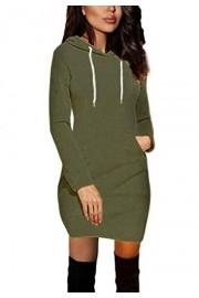 Asskdan Women's Basic Pullover Hoodie Sweatshirt Slim Fitted Tunic Hoodie Dress Pocket - Il mio sguardo - $29.99  ~ 25.76€