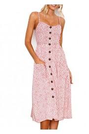 Asskdan Women's Casual Floral Print Romantic Spaghetti Strap Slip Midi Dress Beach Dress - Il mio sguardo - $10.99  ~ 9.44€