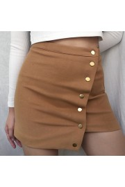 Asymmetrical high-waist hip skirt - My look - $25.99