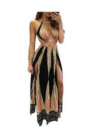 BIUBIU Women's Boho Floral Halter Summer Beach Party Split Cover up Dress S-XL - My look - $28.99