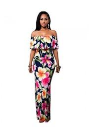 BIUBIU Women's Elegant Off Shoulder Floral Party Bodycon Maxi Dress S-3XL - My look - $39.99