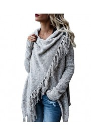 BIUBIU Women's Long Sleeve Tassels Irregular Loose Sweater Cardigan S-XL - My look - $57.76