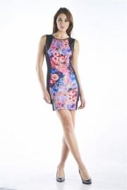 BODYCON FLORAL PRINT DRESS - Catwalk - $24.00  ~ £18.24