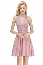 Babyonlinedress Halter Neck Sleeveless Applique Pearled Homecoming Dresses - Моя внешность - $48.99  ~ 42.08€