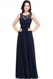 Babyonlinedress Sleeveless Slim Fit Lace Chiffon Long Bridesmaid Dress - Моя внешность - $32.99  ~ 28.33€