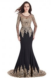 Babyonlinedress Womens Long Sleeve Lace Formal Mermaid Prom Evening Dress - Моя внешность - $81.99  ~ 70.42€