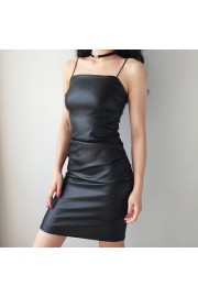 Basic tight-fitting slim leather strap d - My look - $27.99