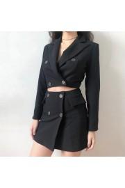 Black fashion suit lapel blazer + female - My look - $29.99
