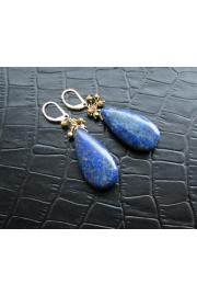 Blue Gem Lapis Lazuli Earrings Gold - O meu olhar - $33.00  ~ 28.34€