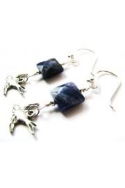 Blue Sodalite Gem Sterling Bird Earrings - Minhas fotos - $27.00  ~ 23.19€