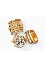 Bold Gold Mega Cuffs - Moj look -
