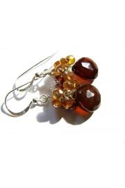Brown Chalcedony Gems Cluster Earrings - Minhas fotos - $28.00  ~ 24.05€