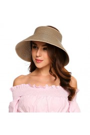 CHIGANT Women's Floppy Summer Sun Golf Visor Beach Straw Hats Wide Brim Foldable - Il mio sguardo - $15.99  ~ 13.73€