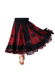 CISMARK Elegant Ballroom Dancing Latin Dance Party Long Swing Race Skirt - O meu olhar - $39.99  ~ 34.35€